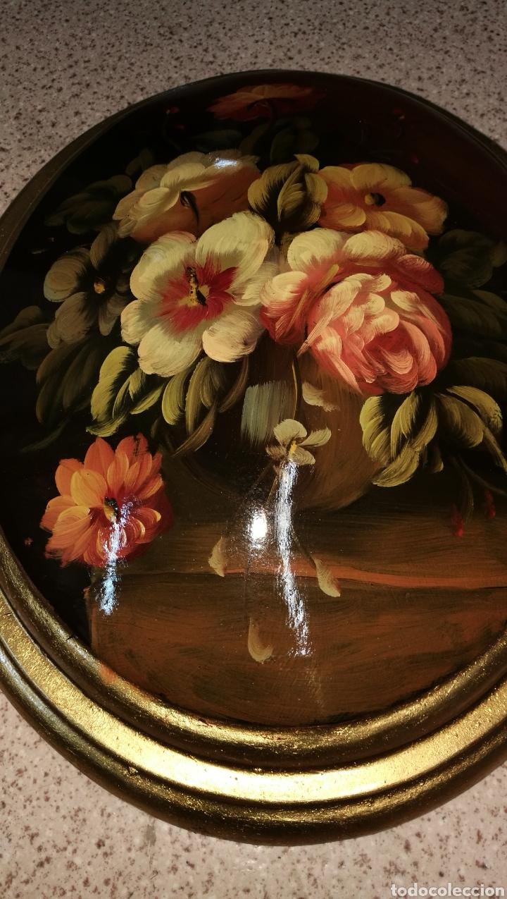 CUADRO OVALADO CON PINTURA (Arte - Pintura - Pintura al Óleo Antigua sin fecha definida)