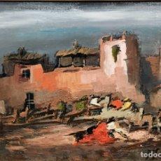 Arte: OBRA FIRMADA,ÓLEO LIENZO. Lote 194886066