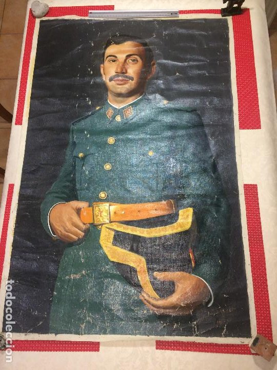 GUARDIA CIVIL - RETRATO GRAN TAMAÑO - AÑO 1970 - FIRMADO - MEDIDAS; 102 X 68 CMS. (Arte - Pintura - Pintura al Óleo Contemporánea )