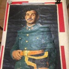 Arte: GUARDIA CIVIL - RETRATO GRAN TAMAÑO - AÑO 1970 - FIRMADO - MEDIDAS; 102 X 68 CMS.. Lote 194901858