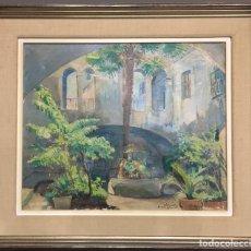 Arte: A - PINTURA AL ÓLEO CONTEMPORÁNEA OLEGUER JUNYENT SANS (1876-1956).. Lote 194901990