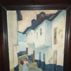 Arte: ÓLEO SOBRE TABLA,1950 ARENAS,MÁLAGA.. Lote 194905965