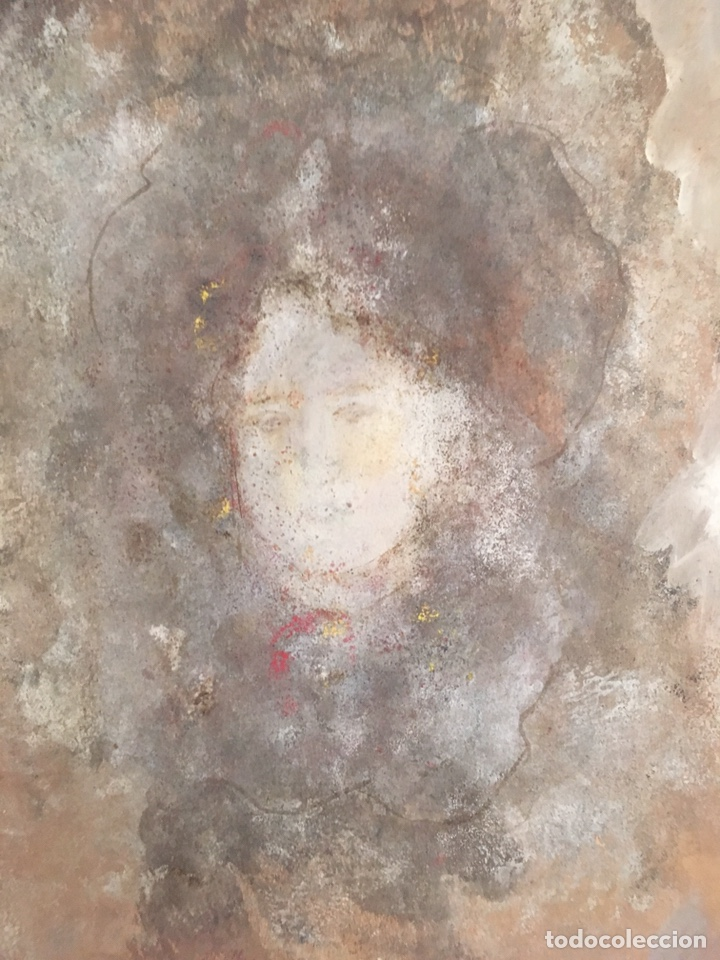 Arte: Retrato femenino Óleo sobre tabla dimensiones 50x65.5cm - Foto 4 - 194914652