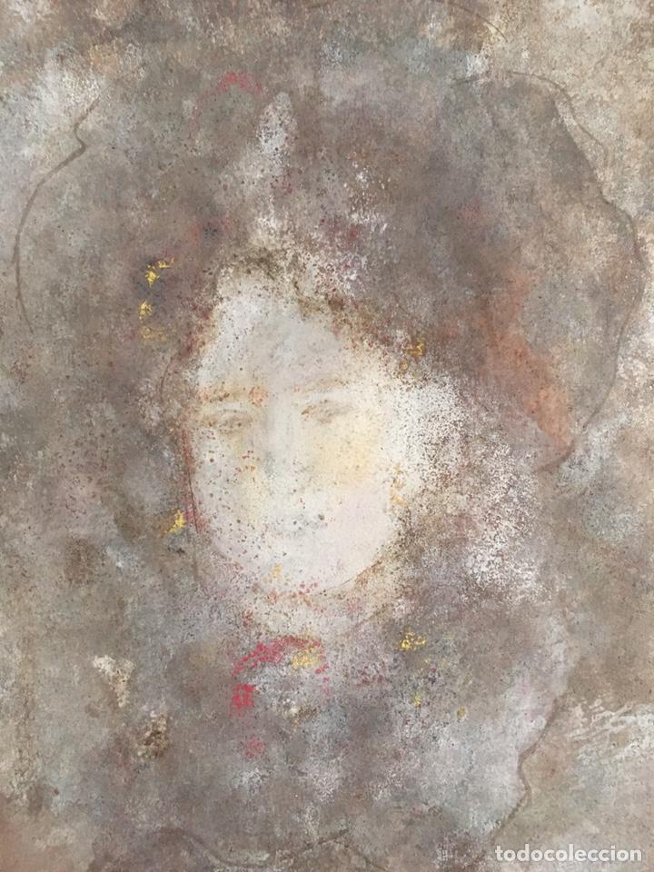 Arte: Retrato femenino Óleo sobre tabla dimensiones 50x65.5cm - Foto 5 - 194914652