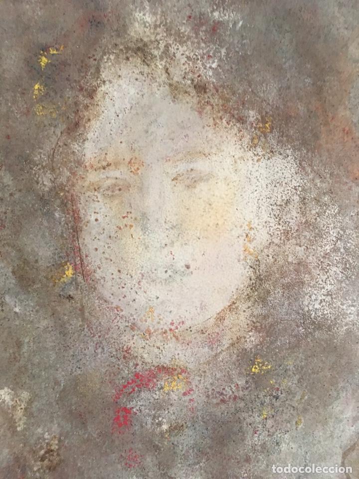 Arte: Retrato femenino Óleo sobre tabla dimensiones 50x65.5cm - Foto 6 - 194914652