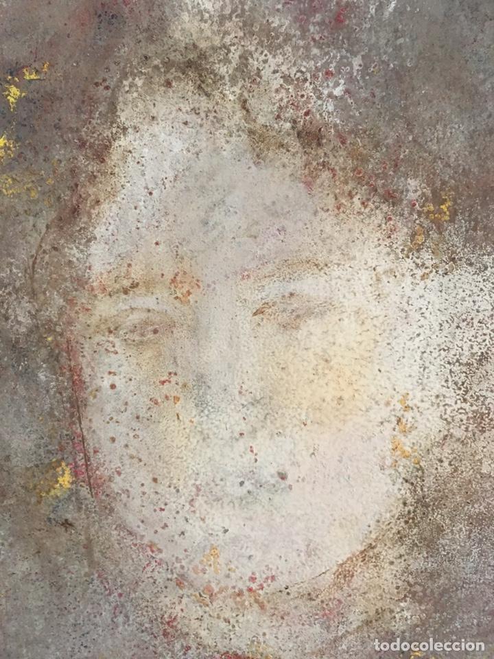 Arte: Retrato femenino Óleo sobre tabla dimensiones 50x65.5cm - Foto 7 - 194914652