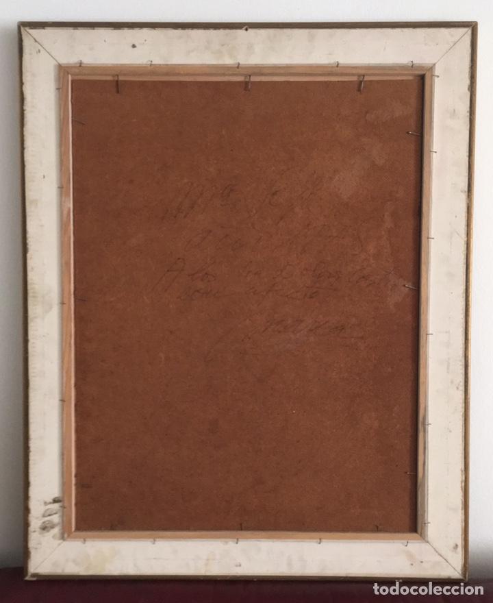 Arte: Retrato femenino Óleo sobre tabla dimensiones 50x65.5cm - Foto 8 - 194914652