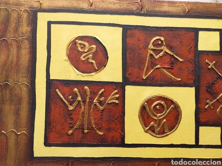Arte: Cuadro en lienzo tipo etnico 122x46 cm - Foto 3 - 194928180