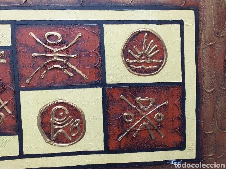 Arte: Cuadro en lienzo tipo etnico 122x46 cm - Foto 4 - 194928180