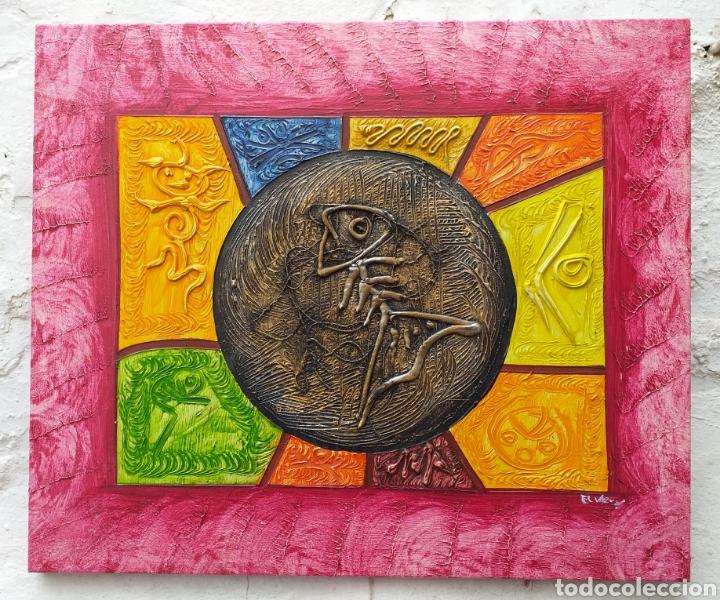 Arte: Cuadro en lienzo tipo étnico 57x48 cm - Foto 2 - 194931555