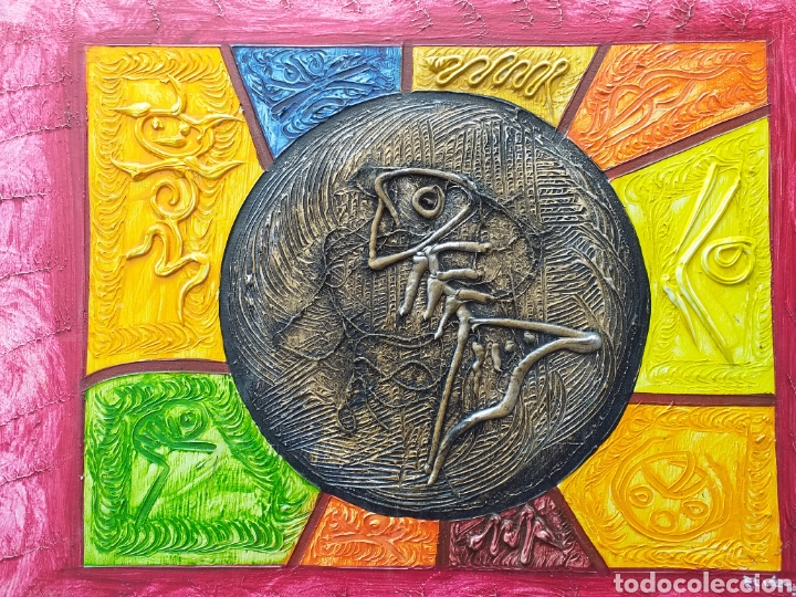 Arte: Cuadro en lienzo tipo étnico 57x48 cm - Foto 3 - 194931555