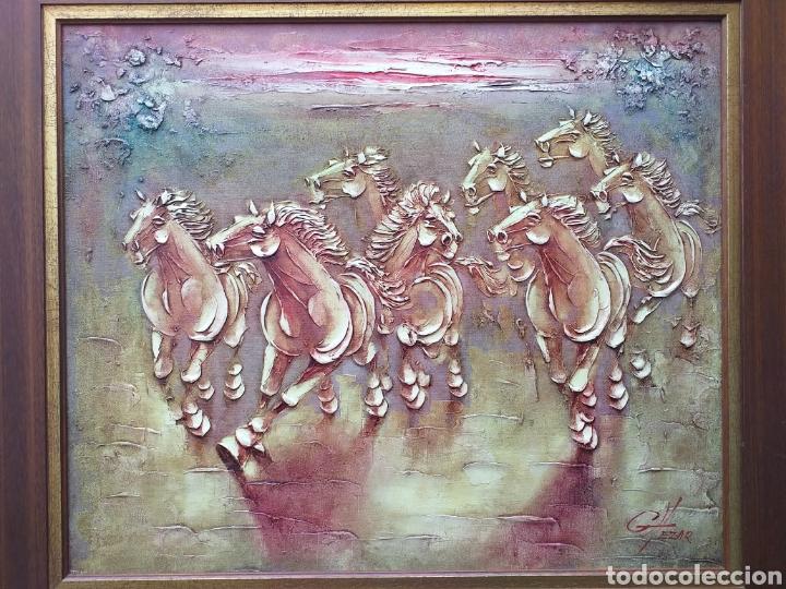 Arte: Gran cuadro al óleo enmarcado Boris Chezar - Foto 2 - 194932106