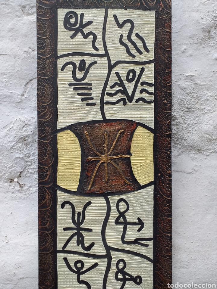 Arte: Cuadro en lienzo tipo étnico 72x28 cm - Foto 2 - 194933185