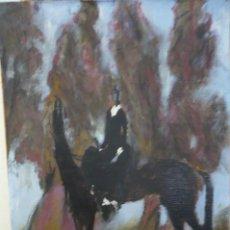 Arte: RETRATO DE MISS TERRY O´DONELL Y SU PURA SANGRE FORST DINASTY. Lote 194946622