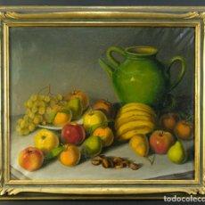 Arte: VICENTE OLIVER (1861-1930) ÓLEO SOBRE LIENZO BODEGÓN FRUTAS FIRMADO. Lote 194962940