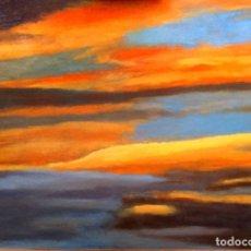 Arte: ATARDECER MEDITERRÁNEO, CIELO Y NUBES UNA DE LAS PUESTAS DE SOL POR MERCEDES SOS. Lote 194971881