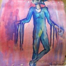 Arte: PINTURA A DOS CARAS,ARLEQUÍN Y MUJER.XX. Lote 194981770