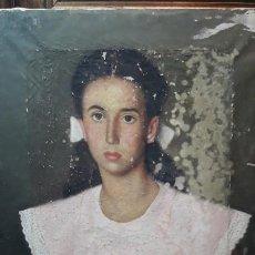Arte: RETRATO FIRMADO VIDAL LOMBAN. Lote 194992521