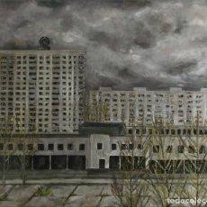 Arte: CHERNOBYL, ÓLEO SOBRE LIENZO. Lote 194992980
