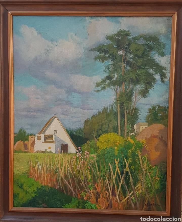 RAFAEL ESTELLÉS BARTUAL(VALENCIA 1900-1994) PAISAJE DE VALENCIA, ÓLEO SOBRE LIENZO 100 X 80 CM. (Arte - Pintura - Pintura al Óleo Moderna sin fecha definida)