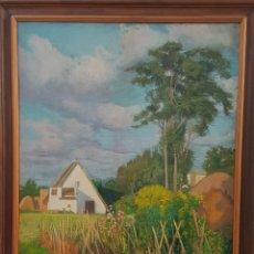 Arte: RAFAEL ESTELLÉS BARTUAL(VALENCIA 1900-1994) PAISAJE DE VALENCIA, ÓLEO SOBRE LIENZO 100 X 80 CM.. Lote 195003188