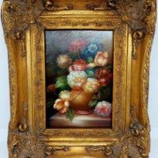 Arte: PINTURA BODEGON FLORAL, CARVERS & GILDERS (INGLATERRA S XIX). Lote 195035616