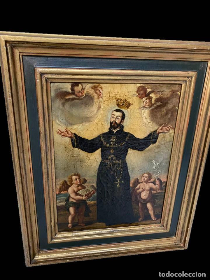 Arte: LA GLORIFICACIÓN DE SAN CAYETANO de Diego López, el Mudo discípulo oficial de Juan Carreño. - Foto 2 - 195056710