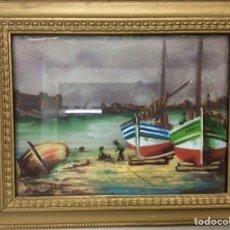 Arte: ÓLEO DE UNA MARINA EN 3D SOBRE CRISTAL Y TABLA. Lote 195058896