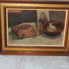 Arte: BODEGÓN ORIGINAL OLEO SOBRE LIENZO FIRMADO. Lote 195063851