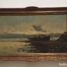 Arte: SEGUNDO MATILLA Y MARINA ( MADRID 1862-BARCELONA 1937) ÓLEO DE TEMÁTICA PAISAJISTICA. Lote 195073947