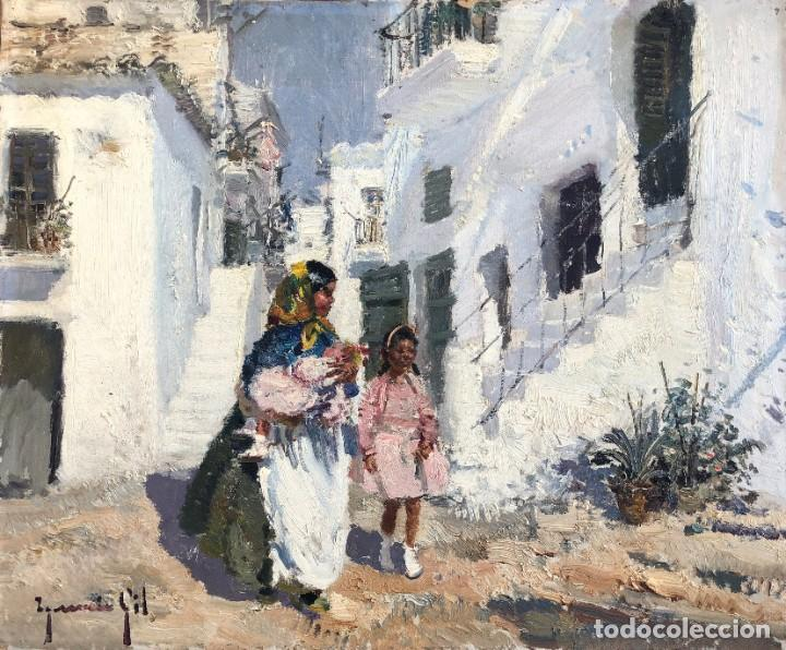 IGNACIO GIL SALA - IBIZA - ÓLEO LIENZO 38X46 (Arte - Pintura - Pintura al Óleo Contemporánea )