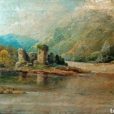 Arte: ÓLEO ANTIGUO CASTILLO DE KILCHURN ( ESCOCIA ). Lote 194990813