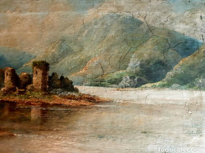 Arte: Óleo antiguo Castillo de Kilchurn ( Escocia ) - Foto 2 - 194990813
