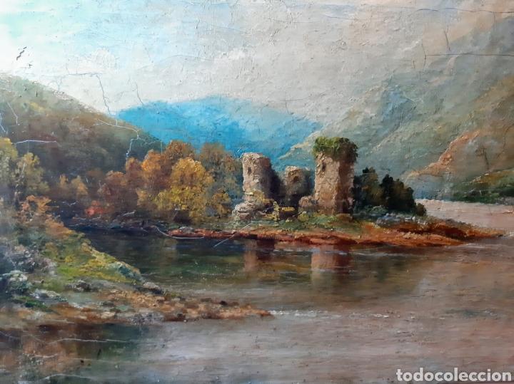 Arte: Óleo antiguo Castillo de Kilchurn ( Escocia ) - Foto 3 - 194990813