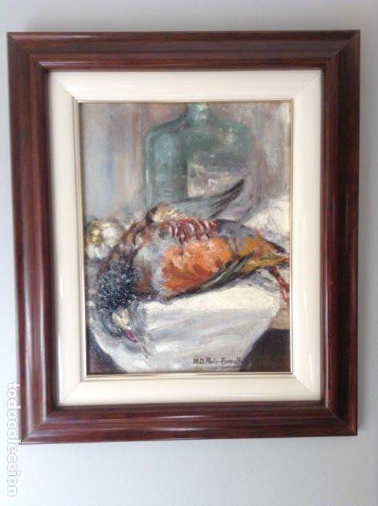 NATURALEZA MUERTA AL ÓLEO (M. D. RUIZ FORNELLS) (Arte - Pintura - Pintura al Óleo Moderna sin fecha definida)