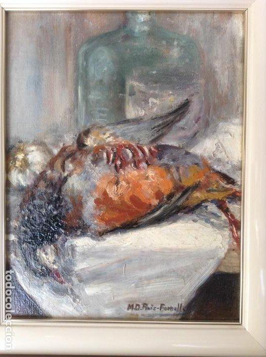 Arte: NATURALEZA MUERTA AL ÓLEO (M. D. RUIZ FORNELLS) - Foto 2 - 195134388