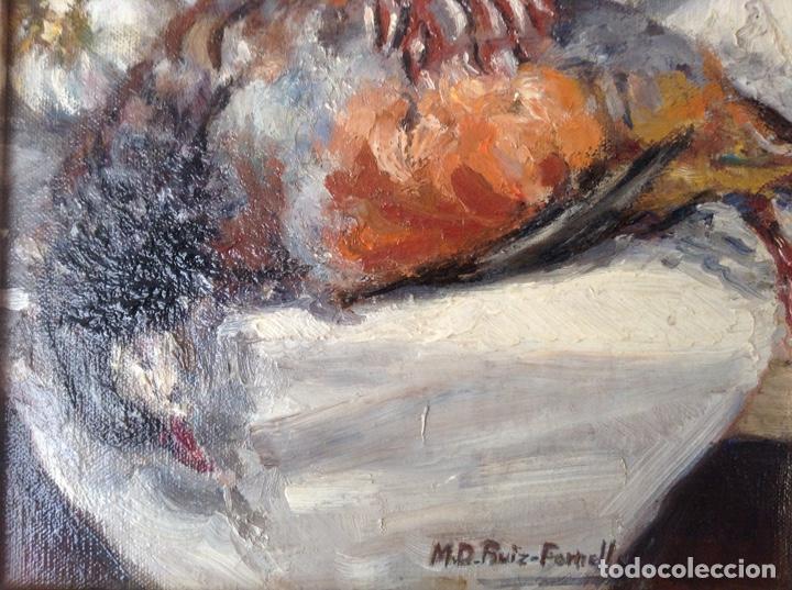 Arte: NATURALEZA MUERTA AL ÓLEO (M. D. RUIZ FORNELLS) - Foto 4 - 195134388
