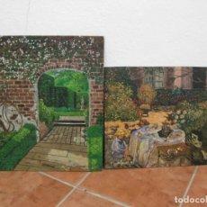 Arte: DOS CUADROS AL OLEO SOBRE TABLA. FIRMADO.. Lote 195134658