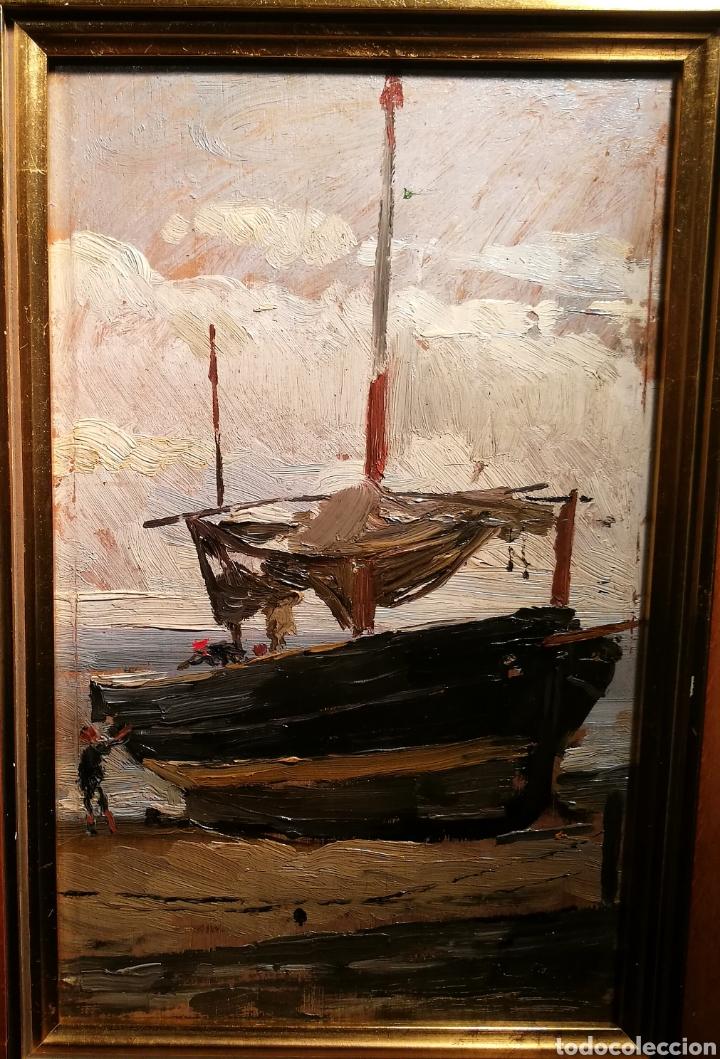 Arte: BARCA VARADA POR ANTONI COLL PI (1857-1942) - Foto 2 - 195134715