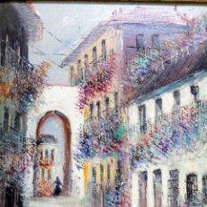 Arte: ELEGANTE CUADRO AL ÓLEO DEL AFAMADO PINTOR MALAGUEÑO MORENO ORTEGA.. Lote 195148647