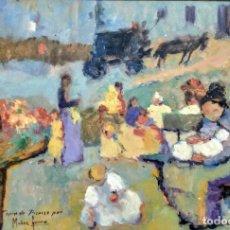 Arte: EXCELENTE CUADRO AL ÓLEO DEL PINTOR IMPRESIONISTA MALAGUEÑO MUÑOZ GARCÍA. (COPIA DE PICASSO).. Lote 195149115