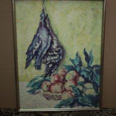 Arte: GUILLEM BERGNÉS I SOLER ( 1888 - 1975 ) - BODEGÓN DE PERDICES Y FRUTAS - 83 X 63 CM.. Lote 195151335
