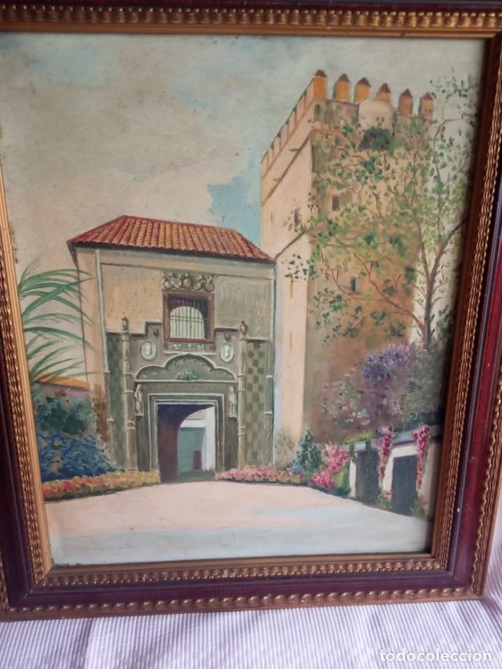 Arte: lote de 2 óleos antiguos casa Dalmases en tabla con firma D. Moreno M - Foto 5 - 195161753