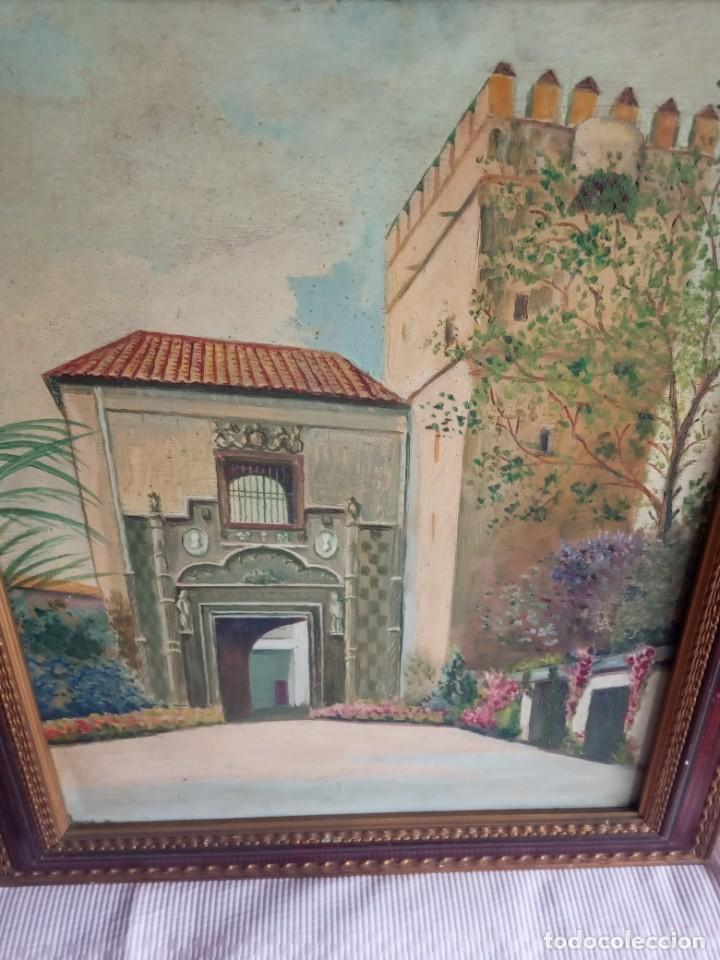 Arte: lote de 2 óleos antiguos casa Dalmases en tabla con firma D. Moreno M - Foto 6 - 195161753