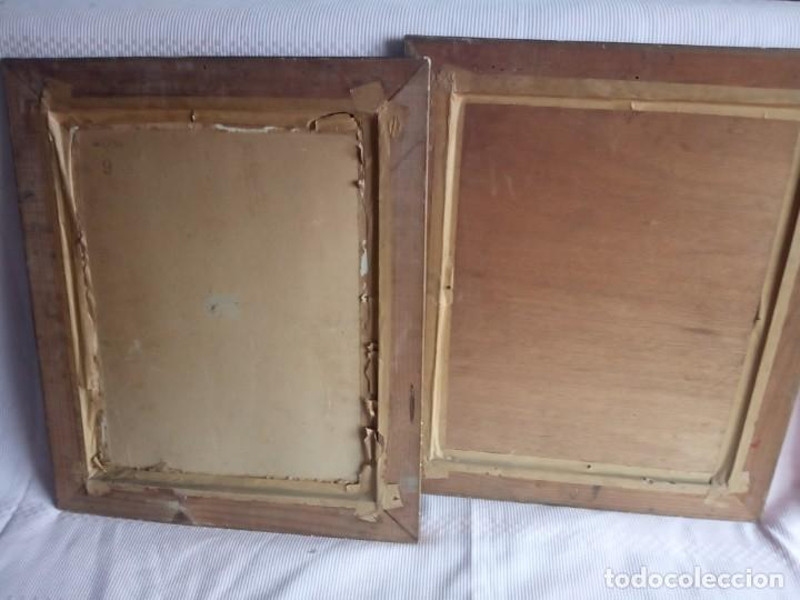 Arte: lote de 2 óleos antiguos casa Dalmases en tabla con firma D. Moreno M - Foto 8 - 195161753