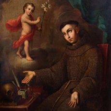 Arte: JOSÉ DE PÁEZ. SAN ANTONIO CON EL NIÑO JESÚS. PIEZA PARA MUSEO. Lote 195172568