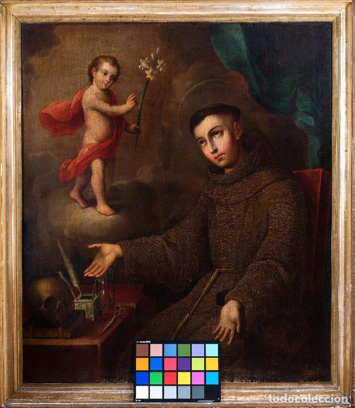 Arte: José de Páez. San Antonio con el Niño Jesús. Pieza para museo - Foto 2 - 195172568