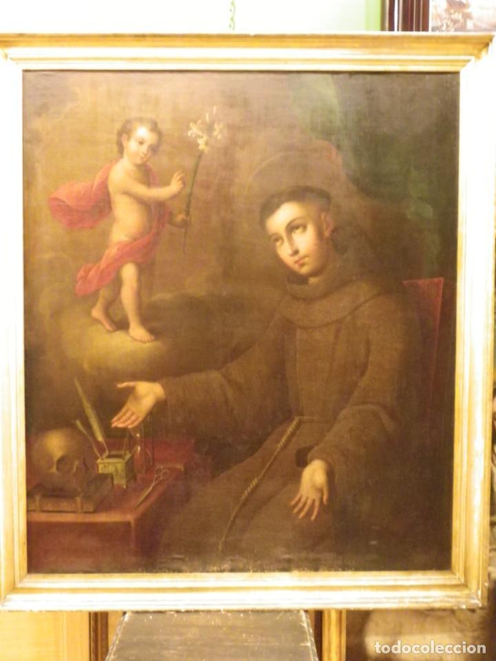 Arte: José de Páez. San Antonio con el Niño Jesús. Pieza para museo - Foto 3 - 195172568