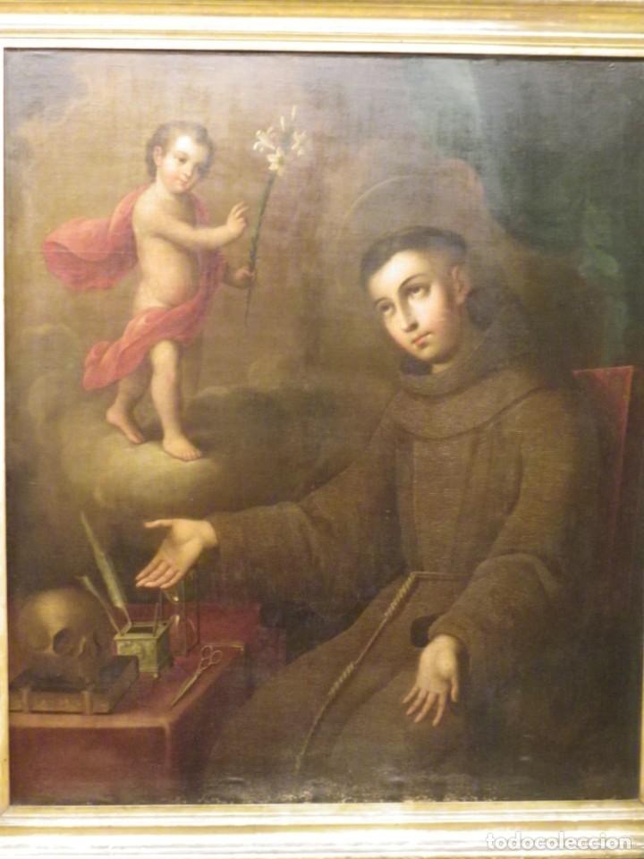 Arte: José de Páez. San Antonio con el Niño Jesús. Pieza para museo - Foto 4 - 195172568