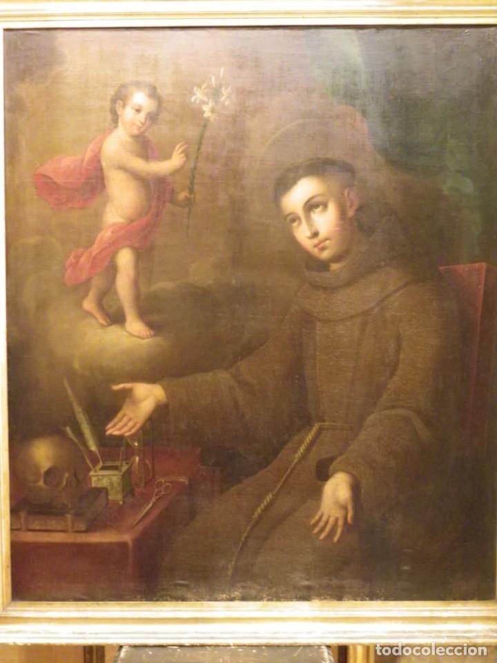 Arte: José de Páez. San Antonio con el Niño Jesús. Pieza para museo - Foto 5 - 195172568